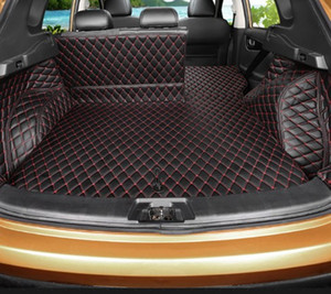 For Nissan Qashqai J11 2014 2015 2016 2017 Custom Car Trunk Mat Cover Rugs Waterproof Leather Auto Rug Interior Accessories