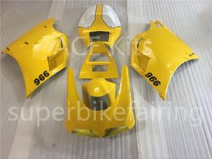 3 obsequios completos Carenados completos Forfor Dukati 748 916 1998 Dukati 996 998 1998 1996 200 20012 Dukti 748 1998 Kit de carrocería de motocicleta Amarillo blanco