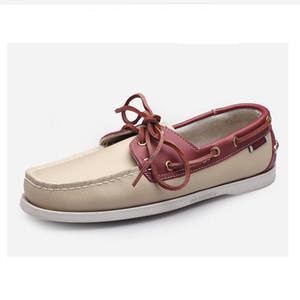 38-45 tamanho grande verão homens mocassins top qualidade confortável e bonito marca apartamentos apartamentos sapatos de couro sapatos casuais
