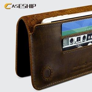 Funda para teléfono Iphone 6 6s 7 Plus 5s 5se 5 .5 pulgadas de cuero real Vintage Wallet Case Titular de la tarjeta a prueba de golpes Casos cubierta