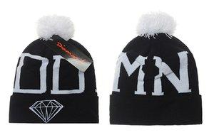 Hot Diamond Beanie Hats gorra de moda sombrero otoño e invierno de punto gorro de lana de esquí Head Headdress Head Warmer Skiing warm Winter hat