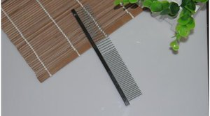 100pcs lot Pet comb stainless steel grooming comb row comb 16cm Free Shipping