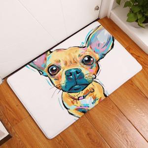Aquarell Pug Wolldecke für Kinder Kinder Gummi Unterstützung Anti-Rutsch-Boston Terrier Wohnzimmer Küche Bad Teppich Rechteck willkommen Fußmatte
