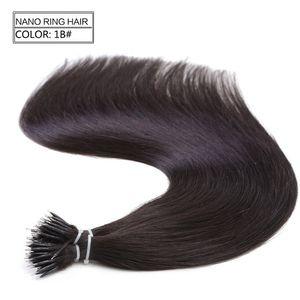 1 г/с 100s бразильский микро нано петли кольцо человеческих волос расширения 100% Реми волос прямые 18 цветов + 100шт нано кольца бусины