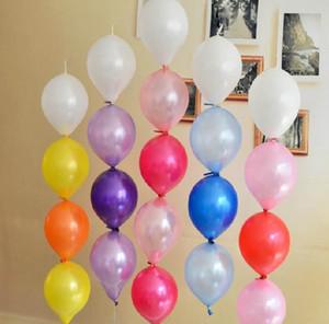100 teile / los Schwanz Ballons Mix Farben Aufblasbare Latex Ballons Spielzeug für Hochzeit Geburtstagsfeier Neujahr Dekoration 6 zoll Link Ballon
