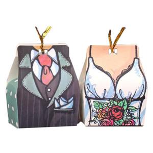 Düğün Tatlı Çanta Wedding Zarif Şeker Kutusu Misafir Gelin Damat Gelinlik Parti Dekorasyon için Hediye Favors