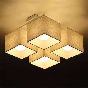 L23 - 패브릭 아트 천 LED 천장 조명 북유럽 LED 펜던트 램프 현대 거실 램프 침실 주방 조명