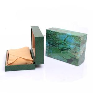 Новый Бесплатная доставка EMS бдит деревянные коробки Коробка подарочная зеленая деревянная коробка часы коробка кожа часы