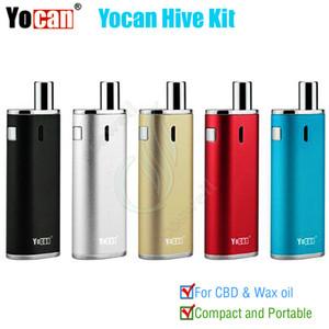 Auténtico kit Yocan Hive 2 en 1 para Wax Coil 650 mah Batería Caja Mods kits BUD CE3 O Pluma Atomizador AIO vapor vaporizador de hierbas Vape DHL