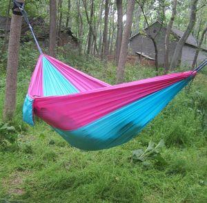 Taşınabilir çocuklar genç Paraşüt Hamak Açık Campinghiking asılı tuval 230 X 90cm Seyahat Hamak tuval Salıncak Yatak