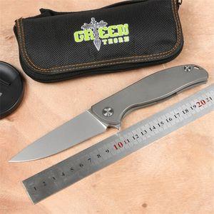 Зеленый шип F95 складной нож D2 лезвие TC4 титанового сплава открытый кемпинг охотничий нож фрукты нож EDC инструмент