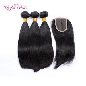 shiping livre tramas do cabelo humano tece fechamento lace frontal pacotes brasileiro do cabelo virgem profunda SEW não transformados encaracolado em extensões do cabelo
