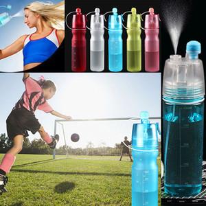 НОВЫЙ Творческий Кнопка Бутылки с Водой Mist Spray Bottle Cup 450 МЛ 600 МЛ Портативный Спорт Путешествия Открытый Восхождение Велоспорт кружки Space Cup WX-C35
