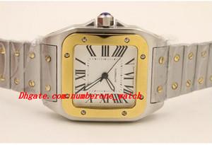 Relojes de lujo Relojes de pulsera Nuevo Movimiento automático de dos tonos 100 acero inoxidable XL Mecánica de moda de calidad zafiro Dial grande
