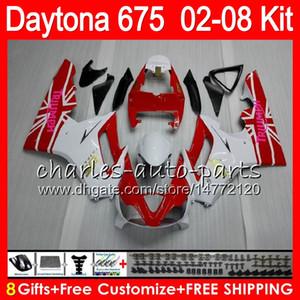 8 Regalos 23 colores para Triumph Daytona 675 02 03 04 05 06 07 08 Daytona675 blanco 4HM23 Daytona 675 2002 2003 2004 2005 2006 2007 2008 Carenado