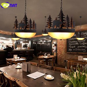 FUMAT Nordic Pendant Light Glass Shade Lamparas Colgante Vintage Metal Tree Lamp Hanging Light Living Room Suspension Luminaire