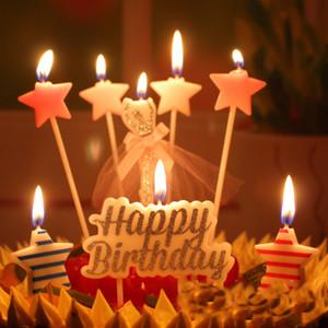 Vela de cumpleaños 2017 caliente 4 gran globo vela del alfabeto Inglés de plástico partido del palillo suministros torta vela al por mayor