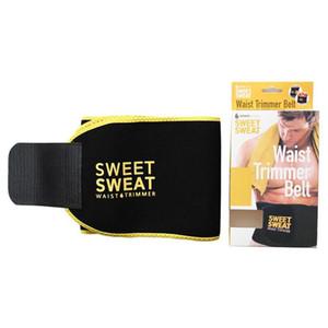 Sweet Sweat Premium Waist Trimmer Hombres Mujeres Cinturón Slimmer Ejercicio Ab Waist Wrap con caja de color al por menor