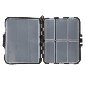 Plástico 9 compartimentos Cajas de aparejos de pesca 13 * 11 * 3.5 cm Peces señuelos Minnow Popper Bait Box Caja de almacenamiento de herramientas de pesca Casos