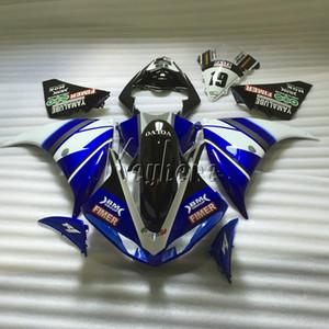 Carénages de moto pour Yamaha YZF R1 09 10 11 12 13 14 kit de carénage de moulage par injection bleu noir YZFR1 2009-2014 OR20