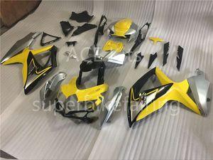 3 подарок новый горячий ABS мотоцикл обтекатель комплекты 100% подходят для SUZUKI GSXR 600 750 K8 2008 2009 GSXR600 GSXR750 08 09 R600 R750 желтый серебряный АКС