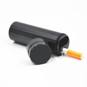 Automatischer Auswurf Dugout mit Mühle Zigarettenetui Inhaber Aluminium Pocket Composite Zigarettenetui gehören One Ceramic Hitter