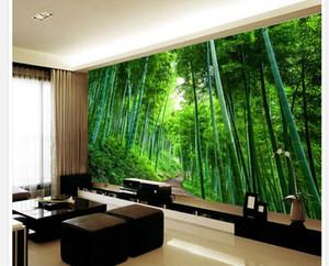 Grande peinture murale 3d fond d'écran 3d papier peint mur de fond d'expansion de la route de planche de bois de bambou 3D pour toile de fond TV