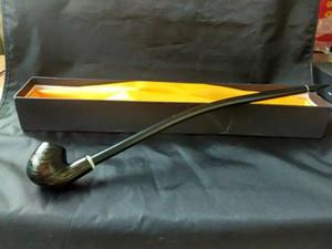 Verlängerte schwarze Holzpfeife, Räucherzubehör Räucherglas Wasserpfeifen Öl Glaspfeifen Fittings Topf Rauchen oder Bongs