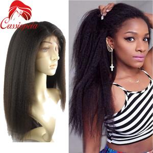 Top qualité italienne Yaki droite péruvienne vierge cheveux humains pleine dentelle perruques pour les femmes noires 8A grade dentelle avant perruque avec bébé cheveux