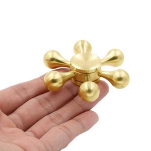 Seis Braços Molecule Metal Forma Mão Spinner Dedo Pião novidade Gryo Brinquedos