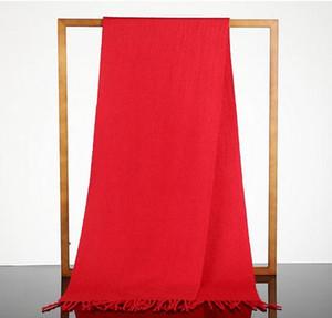 Fashion Warm Scarf Winter Large Red Pure Wool Sciarpa scialle doppio scopo sciarpa spessa 4 colori da scegliere
