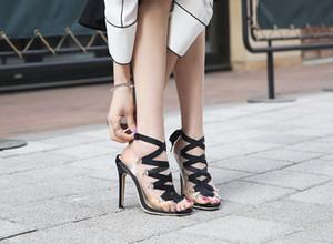 Prom Party Stilettos Sapatos Único Das Mulheres Peep Toes Sapatos de Verão Sandálias Botas de Formatura Salto Alto Sapato Salto Fino 11 cm Nó Bowtie