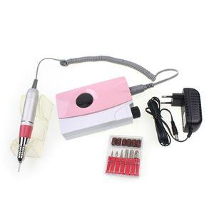 NEUER tragbarer elektrischer wieder aufladbarer drahtloser Maniküre Pedicure-Nagel-Bohrgerät für Nagel-Kunst-Ausrüstungs-25000RPM Nagel-Maschine