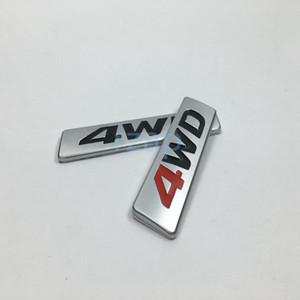 100pcs التي لشركة هيونداي سانتا في توكسون 4WD سيارة دفع خلفي الجذع غطاء شارة اللوحة الديكور شارات معدنية