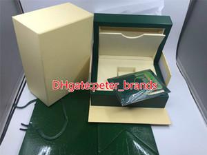 La venta caliente de la caja de relojes de la marca de madera verde de grado superior, pero no se vende en una sola, se debe pedir junto con el reloj.