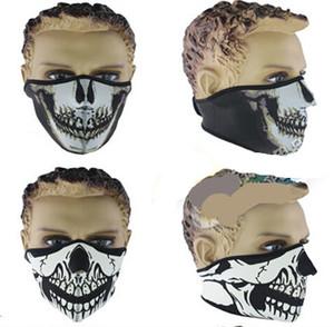 8 Styles Desinged Skull Face Mask Uomini Neoprene Moto Bike Ciclismo Partito Maschera leggera Stretch Maschere facciali invernali