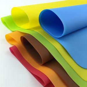 12 * 16 pulgadas de silicona estera antiadherente estera de tabla de repostería con rojo verde azul amarillo marrón naranja esteras de silicona cera almohadillas antiadherentes