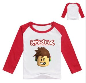 2017 Automne À Manches Longues T-shirt Pour Les Filles Roblox Chemise Jaune Blouse Pour Les Garçons Coton Tee Sport Shirt Roblox Costume Pour Bébé