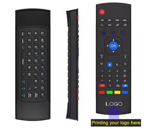 10pcs 사용자 정의 만든 MX3 X8 T2 안드로이드 TV 상자에 대 한 마이크 없음 2.4GHz 무선 자이 스코프 키보드 공기 마우스 원격 G- 센서 자이로