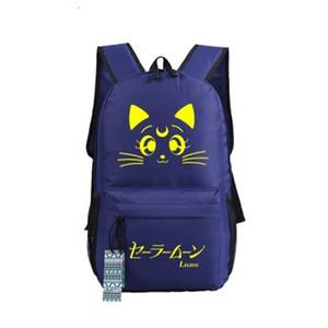 Malidaike Anime Sailor Moon Tuval Omuz Güzel Kedi Çantası ortaokul Öğrenci Çanta Cosplay Hediye Sırt Çantası