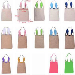 Easter Bunny Ears Borse Canvas Egg Packing Handbag Bags For Children Festa di festival per adulti Articoli per feste di Halloween WX-B31