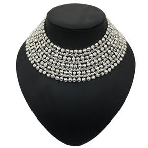 Declaração BOSEWIN Chunky metal Collar Colar Para Mulheres Pescoço Bib Gargantilha Colar Maxi Jóias de Ouro Prata Cores Bijoux