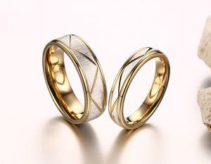 2019 моды Золотого цвета нержавеющей стали 316L обручальных кольца высокого качества пары ювелирных изделий анель feminino размер BAGUE Ьотта US 5-12