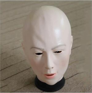 Venta al por mayor de Grado superior 100% partido de látex Cosplay halloween máscara humana máscara femenina mascarada máscaras sexy crossdress traje realista máscaras