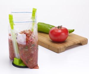 Jokari Hands-Free Baggy Rack Clip Food Storage Bag Holder Napkin Rings