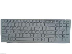 Ersatz weiß neue Tastatur für Sony Vaio 148969211 mit Rahmen Laptop US