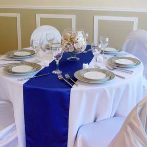 All'ingrosso raso di seta Tovaglie hotel Runner casa Festival Tavola di Natale festa di nozze Banchetto Venue Decor V441