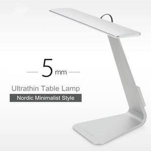 2017 Ultrathin Mac Style 200LM LED 3 Modo de atenuación táctil Interruptor de lectura Lámpara de mesa Lámpara de escritorio incorporada Batería de luz suave Luz nocturna Luz