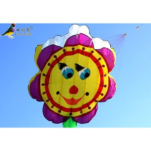 Free Shipping NEW single Line Sunflower Software Power Kite Flying outdoor Toys
