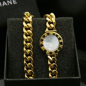 Regina Loto Nuovo di alta qualità placcato in argento nero / bianco Shell No. no. Lunga catena donne braccialetto braccialetto fascino per regalo all'ingrosso